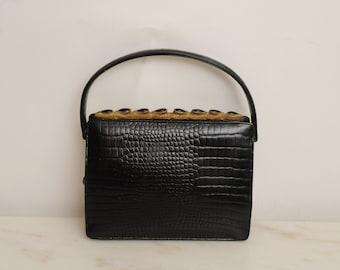 Vintage Black Purse Creatiions International 1950s