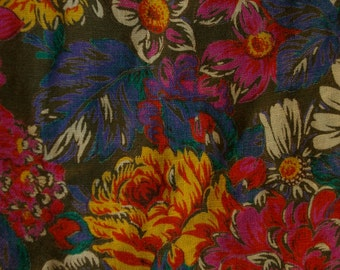 Cotton Floral Skirt Size Large Womens 44 by Geiger Collections Austria Traditional Mod Style