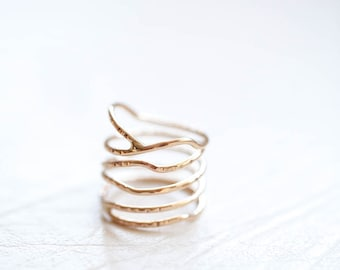 Elven Ring- stacked ring-gold ring-silver ring- trending rings-Valentines Gift