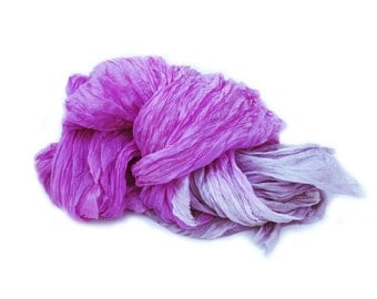 radiant orchid silk scarf - Radiant Orchid Dance -  purple pink, radiant orchid, grey, paloma silk ruffled scarf.