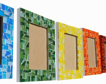 Mosaic Picture Frame, 4 x 6  - You choose the color