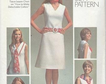 UNCUT Vintage 1970's Dress Sewing Pattern Simplicity 9236