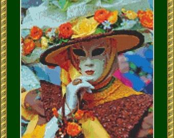 Festival Mask 6 Cross Stitch Pattern