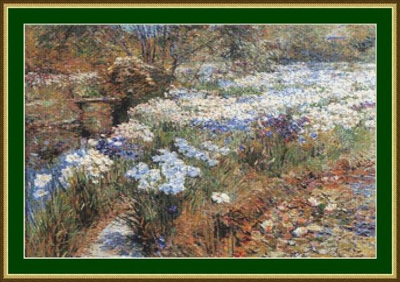 The Water Garden Cross Stitch Pattern /Digital PDF Files /Instant downloadable