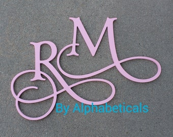 Monogrammed Wall Decor wooden monogram wall hanging | etsy