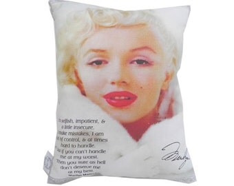 SALE Marilyn Monroe Quote Signature Pillow