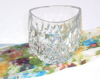 1990 Heavy Crystal Candy Open Bowl or Vase