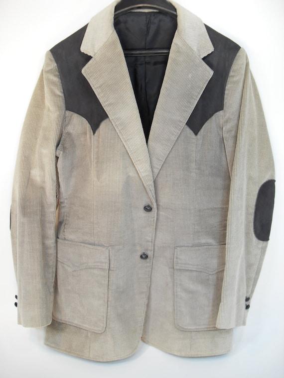 Retro Corduroy Menu0026#39;s Funky Jacket Blazer 1970u0026#39;s