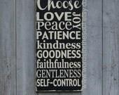 Galatians 5:22-23 - Fruit of the Spirit - Bible Verse Wall Art - Rustic Wood Signs - Scripture Wall Art  - Christian Wall Art - wooden signs