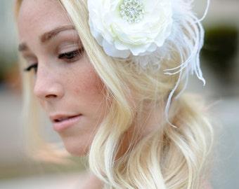 Bridal Hair Flower, Hair Flower, Wedding Hair Piece, Flower Clip, Headpiece