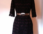 Gorgeous 'Thorn by Nancy rose' black lace dress