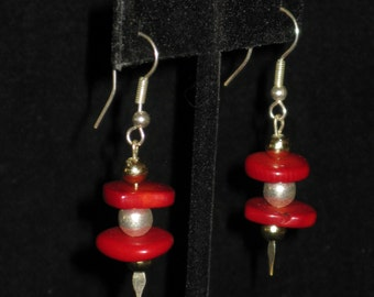 Stacked Coral Pierced Earrings