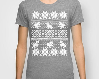 Fair Isle Westie T-shirt Womens & Mens Made to Order Various Colors S M L XL 2XL