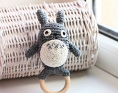 My neighbor Totoro, Crochet Totoro, Soft Toy, Totoro plush, Wooden teether