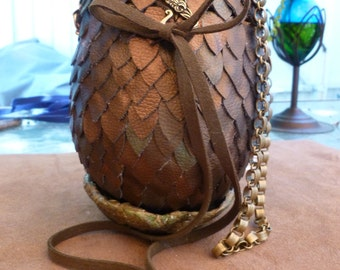 "Dragon Egg Purse, Made to Order, cosplay purse, geeky, 6"" gaming bag, dice bag, festival purse, artistic handbag"