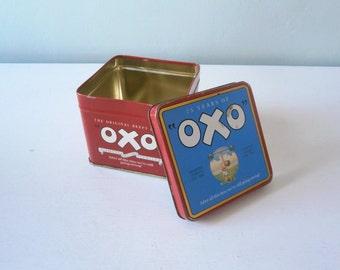 Vintage Oxo stock Tin for nik naks