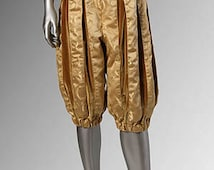 Renaissance Clothing Renaissance Breeches Pants Handmade, Brocade Gold Costume  Available in Multiple Colors