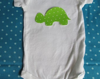 Turtle iron on applique - no sewing required - make a turtle shirt or turtle decor