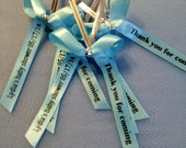 Personalized Ribbon For Party Favors , baby shower favors, wedding favors, baptism favors