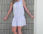 Pastel Plaid Cotton Romper***reserved for Kyle***