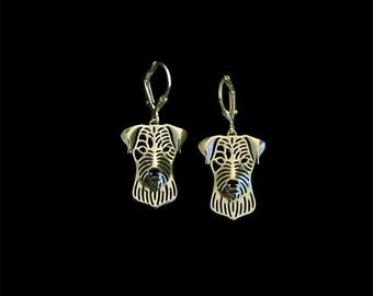 Parson Russell Terrier earrings - Gold