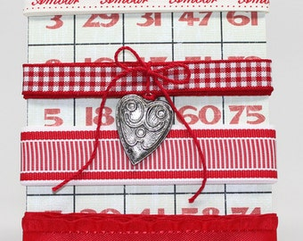 Valentines Day Amour Ribbon Pack Red and White