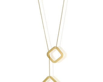 Adjustable Geometric Necklace, Adjustable Gold Chain