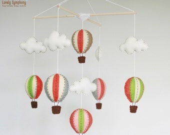 Indian summer hot air balloons baby mobile - baby mobile