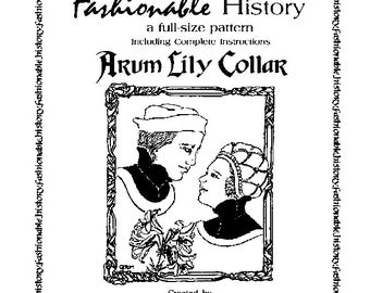 Arum Lily Collar Pattern by Queta's Closet No.108