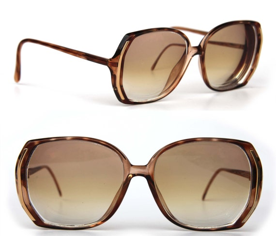 Eyeglass Frames Not Made By Luxottica : LUXOTTICA Amber Over size Women Rx eyeglasses Brown Frames