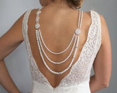 Back Drop Necklace-Backdrop Necklace-Pearl Necklace-Bridal Jewelry-Low Back Necklace-Wedding Necklace-Backwards Necklace-Dream Day Designs