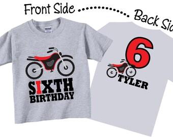 6th Birthday Shirts and Tshirts with Dirtbike Tees