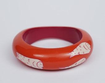 Bracelet PONYO Orange & Pastel Pink Large Model