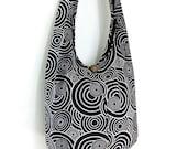 Women bag Handbags Cotton bag Hippie bag Hobo bag Boho bag Shoulder bag Sling bag Messenger bag Tote bag Crossbody bag Purse Black & White