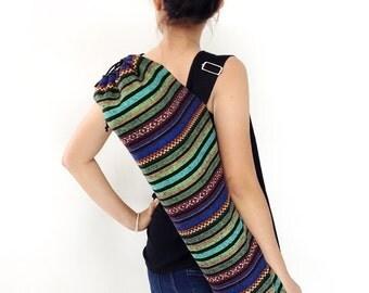 Handmade Yoga Mat Bag Yoga Bag Sports Bags Tote Yoga Sling bag Pilates Bag Pilates Mat Bag Woven Yoga Bag Women bag Woven Cotton bag (WF3)