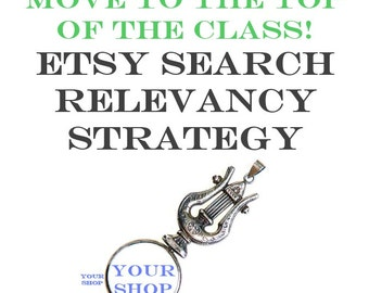 Etsy Relevancy Search Strategy - Ebook and Spreadsheet - Improve Your Etsy Page Rank