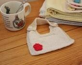 Organic Knit Drool Bib Flower Blossom-choose your color