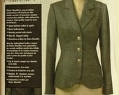 """Jacket by Claire Shaeffer - 2000's - Vogue Custom Couture Pattern 8333 Uncut   Sizes 18-20-22  Bust 40-42-44"""""""