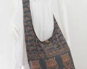 USA SHIPPING**Grey  Owl Vintage Unisex Hippie Hobo Boho Sling Cross body Shoulder Messenger Bag E-OWLL04