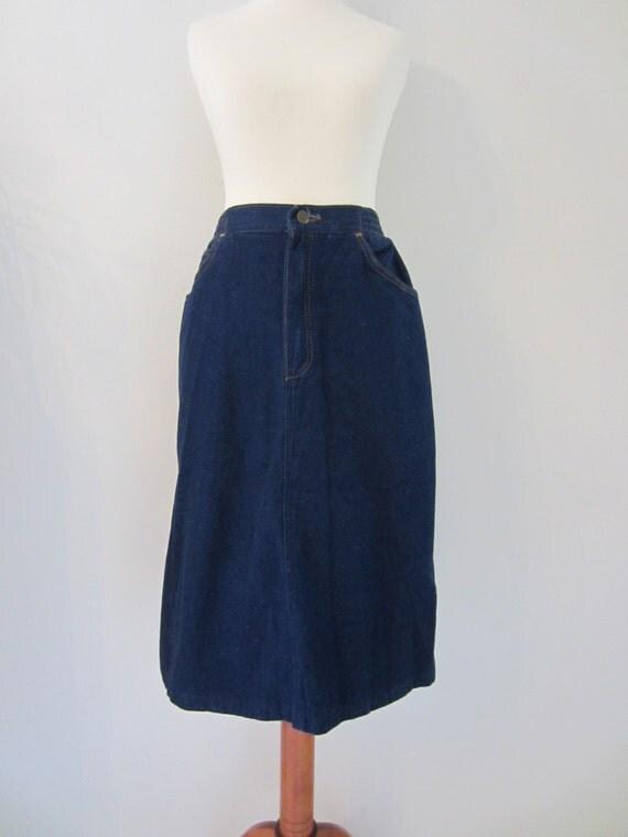 80s 90s wrangler denim skirt made in usa s w27 vintage