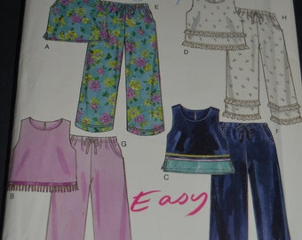 New look 6095 CHildrens Top and  Pants Sewing Pattern - UNCUT- Sizes 2-7