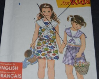 Simplicity 8064 Childs and Girls Tops and Shorts Sewing Pattern - UNCUT - Sizes 2 3 4 5 6 6X