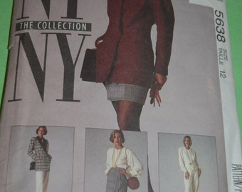McCalls 5638 Misses Jacket Blouse Skirt and Pants Sewing Pattern - UNCUT - Size 12