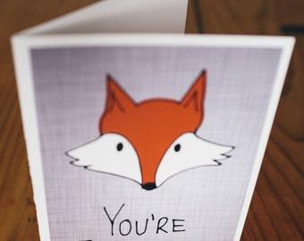 You're Fantastic Fox Card