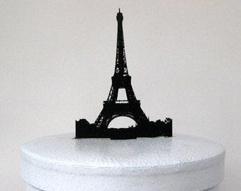 Cake Topper -Eiffel Tower Silhouette