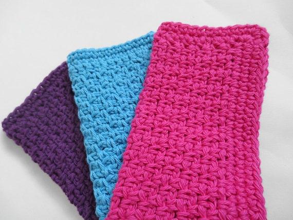 crochet simple coton torchon vaisselle set par purplekisscompany. Black Bedroom Furniture Sets. Home Design Ideas