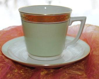 Vintage Cup and Saucer - Royal Copenhagen, Denmark, Dagmar - 1980's- Beautiful!