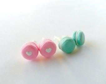 Macaron Earrings, Post Earrings, Choice of Sterling Silver Posts, Cute, Kawaii! :)