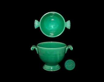 Vintage Homer Laughlin Co. Fiesta Light Green Sugar Bowl Without Lid