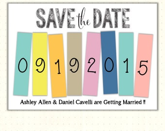 Save the Date Cards, announcement, engagement, wedding, postcards, magnet, chevron, digital, printable, invite WSD1487